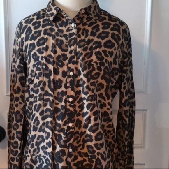 3131fa00d54d jcpenney Tops | B1g1 Jcpenny Leopard Cheetah Button Down L | Poshmark